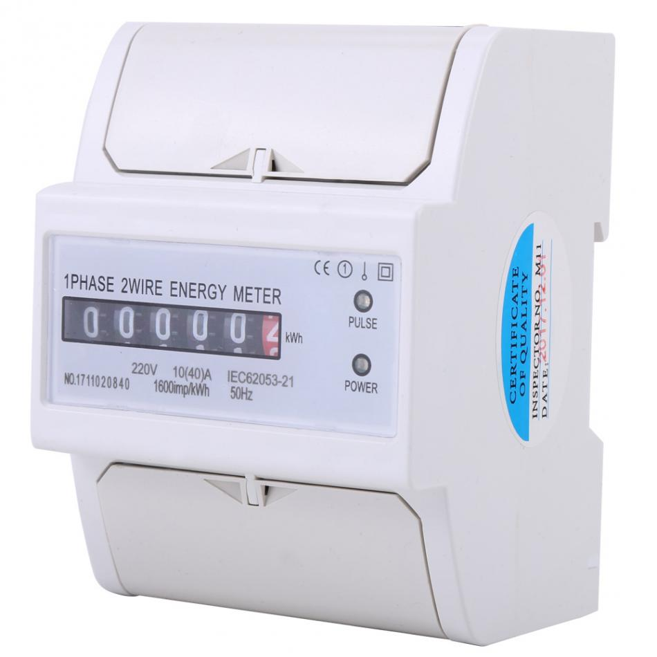 medium resolution of 1 phase 2 wire din rail electronic energy kwh meter 10 40 a power consumption watt energy meter in energy meters from tools on aliexpress com alibaba