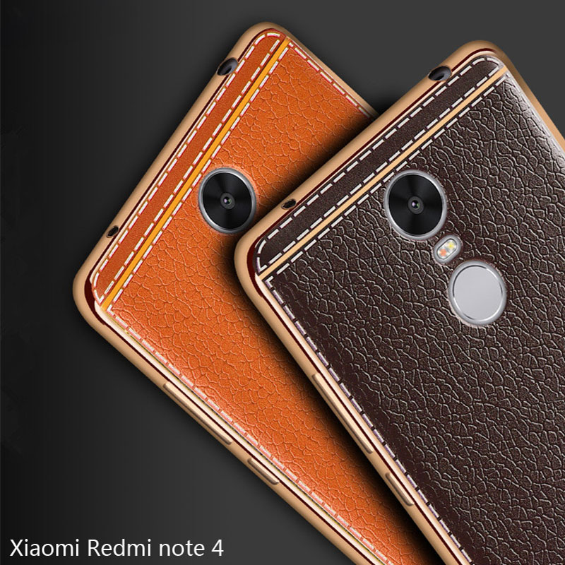 For xiaomi redmi note 4 case silicone cover for xiaomi redmi note 4 plating leather back for - Xiaomi redmi note 4 case ...