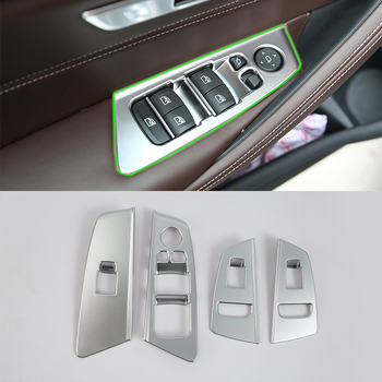 Car Accessories Interior Decoration LHD ABS Armrest Window Lift Down Rises Cover Trims For BMW 5 Series 2017 Car Styling