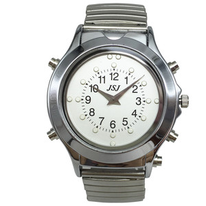 Image 4 - Spanish Talking and Tactile Watch for Blind People or Visually Impaired People, White Dial, Black Number