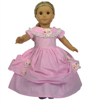 Hot Sale 4 Styles American Girl Doll Clothes Of Flower Pattern Party Dress For 18 American