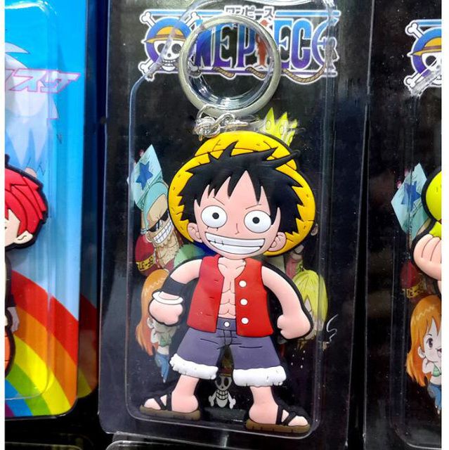 One Piece Luffy Key Chain Action Figure