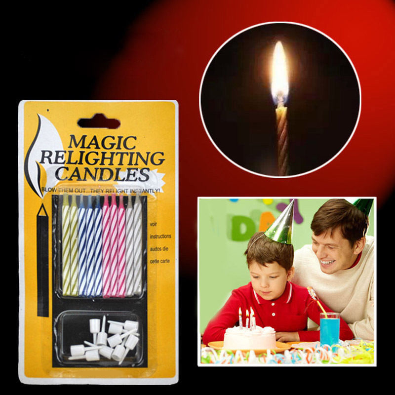 Hot Sale 10x Quality Magic Trick Relighting Candle Birthday Cake Party Xmas Gift Fun In Decorating Supplies From Home Garden On