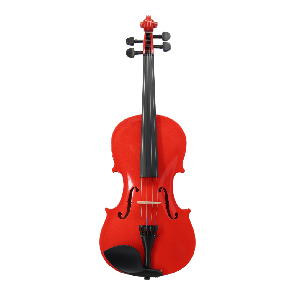 w/ Case Bow Rosin Shoulder Rest Mute Strings Solid Wood Violino Red Acoustic Violin 4/4 3/4 1/2 1/4 1/8 for Beginner Students beginner s wood case 4 string violin w horse hair bow and rosin red black