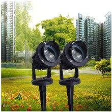 Светодиодный светильник для газонов 3 Вт, новогодний Водонепроницаемый IP65 Прожектор, точечный светильник, уличный светильник, садовый квадратный светильник