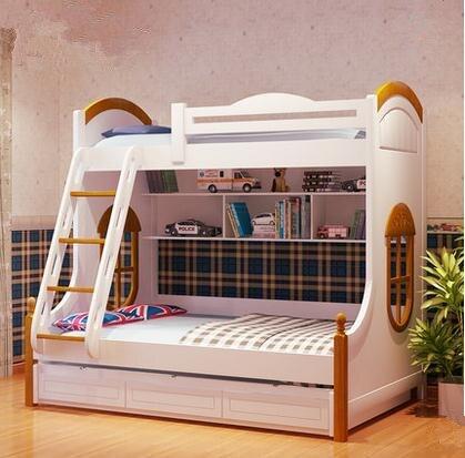 Middellandse zee kinderen slaapkamer meubels suite op de bed hoogte ...