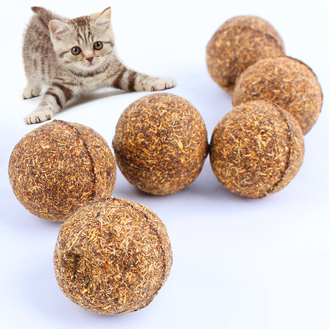 Hot Sale 3PCS Cat Toy Natural Catnip Ball Menthol Flavor Cat Treats  Ball Toys For Pet Cat Supplies