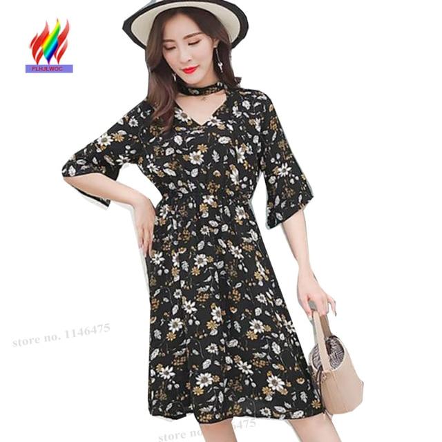 3102025a9cb4 Flare Sleeve Dresses New Hot Women Fashion Summer Cute Sweet Girls V ...
