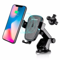 YIJINSHENG Fast Wireless Charger,Car Mount Air Vent Phone Holder Cradle for Samsung Galaxy S8/S8+/S7 Edge/S6 Edge+/Note 5,Standa