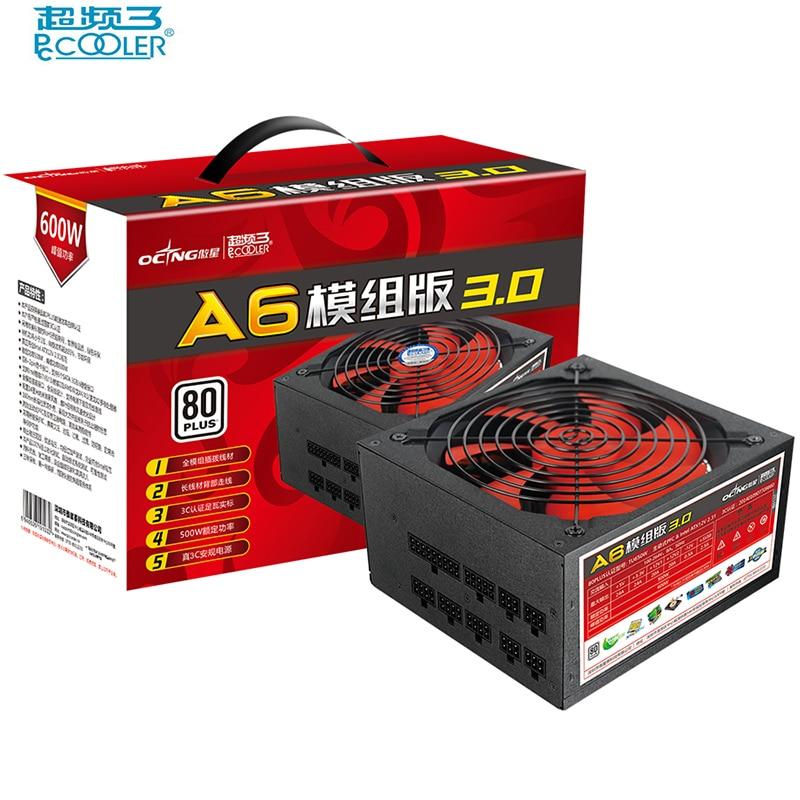 Здесь продается  PcCooler 100-264V 500W computer Power supply Full Modular 2x6pin+2 GPU Ports For SATA 3GB/S Hard disk interface For intel ATX12V  Компьютер & сеть