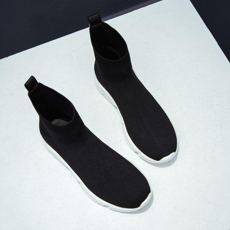Botas Pisos Tobillo Verano Deporte {zorssar} Luz Calcetines Mujeres Cómodos Zapatos Elástico Casuales De Y Negro Moda Transpirable Primavera Zapatillas AIz5zqp6