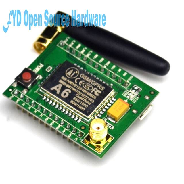 US $7 99 |GPRS module GSM module A6 SMS Speech Board Wireless Data Trans  Adapter Plate 3 3V 4 2V Quad band AT-in Integrated Circuits from Electronic