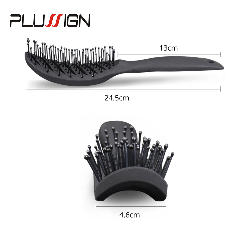 Plussign New Hair Brushes Curved Vented Styling Hair Brush, Detangling Thick Hair Massage Blow Drying Brush, Massage Hair Comb