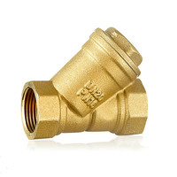 G Female Thread Y Type Sanitary Brass Filter For Water Pipe Filter Valve DN15 DN40