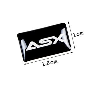 Image 2 - 8 stücke Auto styling lenkrad 3D kleine Emblem Aufkleber Rad Aufkleber Fit für mitsubishi ASX outlander pajero lancer Auto aufkleber