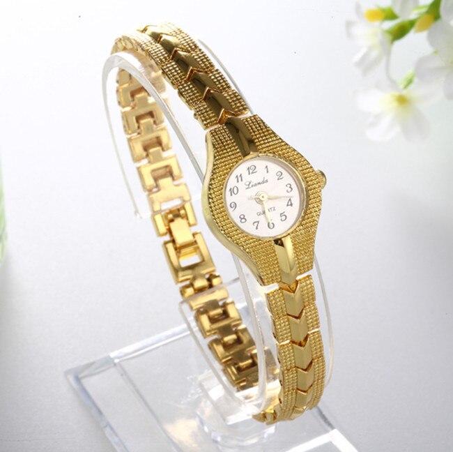 Women Luxury Royal Gold Watch Oval Quartz Dial Stainless Steel Wristwatch Dress Watch Gift Hot Sale Reloj Drop Shipping