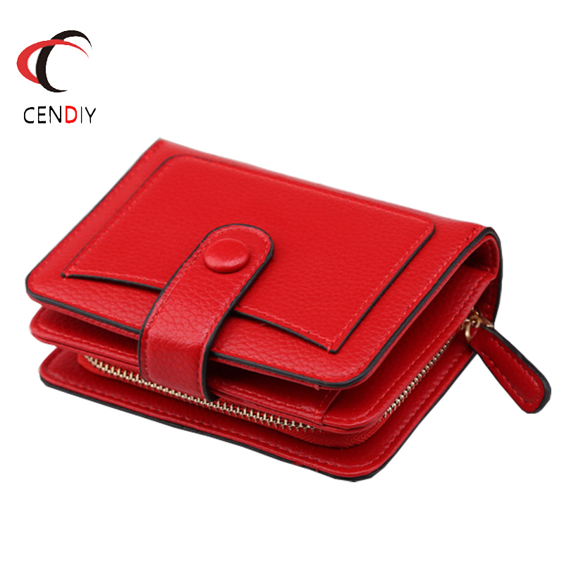 Cute Women Wallet Small Zipper Girl Wallet Short PU Leather Women Coin Purse Bag Credit Card Holder Wallet Mini Female Clutch