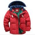 Bebés Meninos Jacket & Brasão de Inverno, As Crianças-Quente De Algodão Acolchoado Roupas, Crianças Inverno Quente Coréia Moda Outwear casaco, Roupas 2017 Meninos