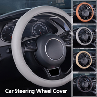 Dewtreetali 38cm Genuine Leather Car Steering Wheel Cover Elegant Luxury Auto Interior Accessories Car Styling For