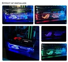 منع تشويه بطاقة جرافيكس قوس الإيمان رمز الاكريليك دعم GPU حامل أبيض ، أحمر ، أخضر ، أزرق ، RGB اللون انخفاض الشحن