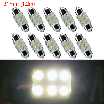 festoen c5w c10w auto led licht 31mm 6led 2835 smdauto lamp interieur verlichting wran wit 12 v auto styling 100 stks gratis verzending