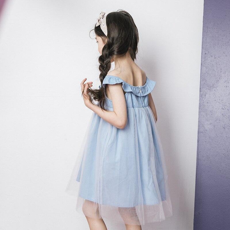 Teenagers Dress for Party Girls Sleeveless Beach Dress Cotton Princess Girl Children Dress Summer 2018 Vestidos 8 10 12 14 Year