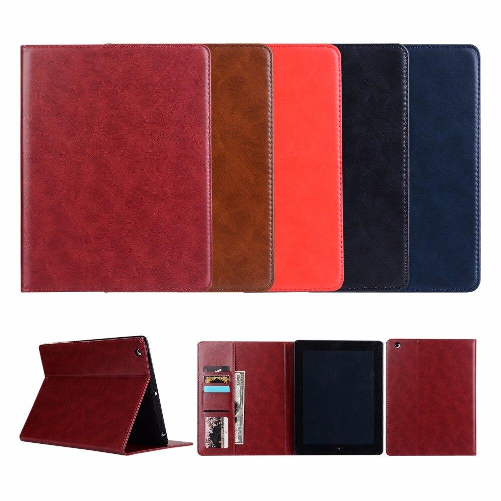 YCJOYZW - TPU Soft case For Ipad 4 3 2 Shapes Stand Smart Case PU Leather Cover:A1460`A1459`A1458`A1416`A1430`A1403`A1395`A1396
