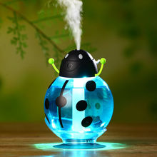 Small ladybug car usb Humidifier incubator diffuser led Mini Air Humidifier Air Diffuser Portable Water Aroma Mist Maker