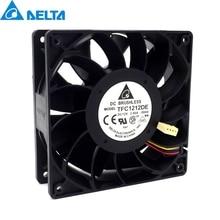 1pcs TFC1212DE  120mm DC 12V 5200RPM 252CFM For Bitcoin Miner Powerful Server Case AXIAL cooling