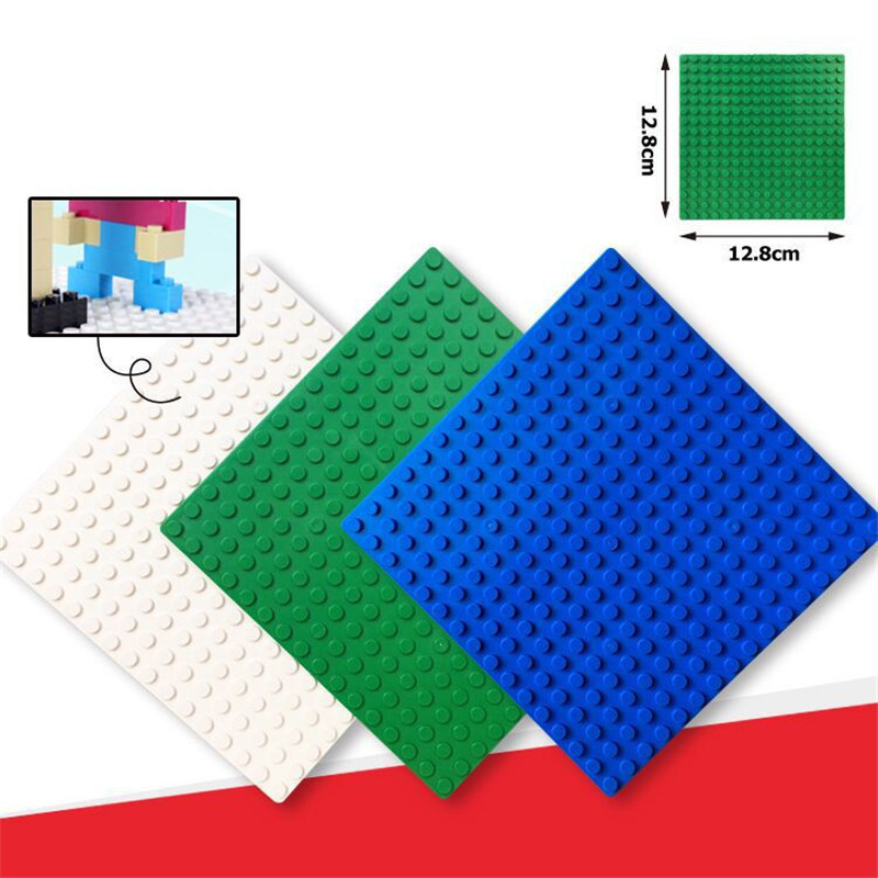 16*16 Dots Base Plate for Small Bricks Multicolor Baseplate Board DIY Building Blocks Action Figure Playmobil Toys For Children mini friend moc city building blocks tree diy blocks baseplate small bricks base figures toys for children