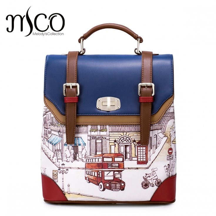 Women Backpack Preppy Style Schoolbag Travel Bag Totes Borsa Braccialini Brand Design Double-decker daypack Girls Top-handle bag fashion denim backpack preppy style casual shoulders double shoulder bag schoolbag style blue x 59966