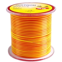 500m colored nylon fishing line double color yellow red circle fish line No.2/2.5/3/3.5/4/5/6/7/8 rock fishing line sea water цена и фото