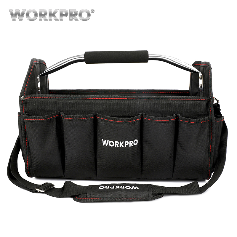 WORKPRO 16 Tool Bag Organizer Tool Storage Bag Tool Kits Shoulder Bag Handbag 600D Polyester Foldable Bag