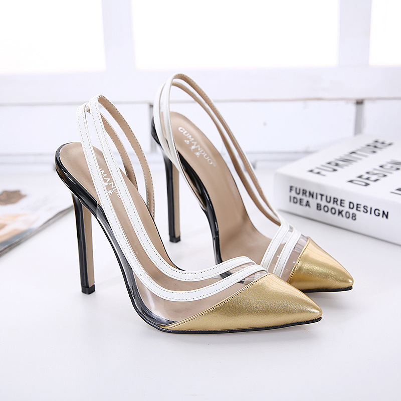 ФОТО New Slingbacks Women Pumps Sexy High Heels Pointed Toe Summer Shoes Woman Fashion Party Wedding Shoes Black Nude