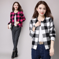 2016 fall elegant plaid cardigan sweater women long sleeve cashmere open stitch tricot knitwear female 3XL warm jersey coats