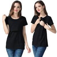 2018 mutterschaft Pflege Shirt Kleidung Baumwolle Stillen Top Tees Für Schwangere Schwangerschaft Krankenschwester Tragen Stillbekleidung