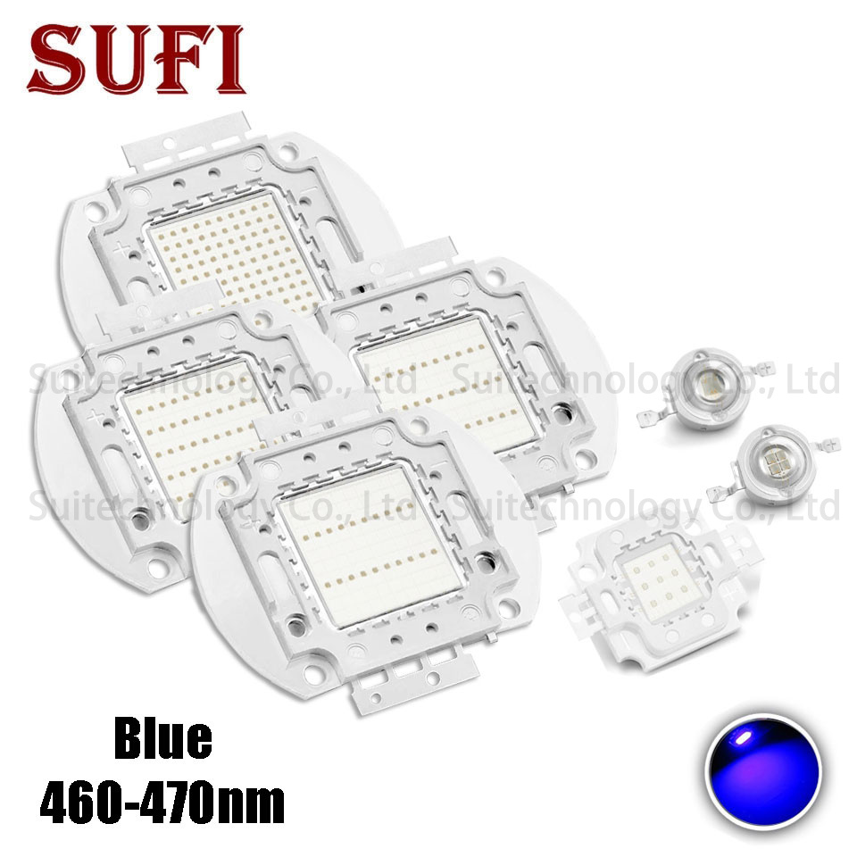 High Power <font><b>LED</b></font> COB Lamp SMD Bulbs Chip 1W 3W 5W 10W 20W 30W 50W 100W <font><b>Blue</b></font> 460-<font><b>470nm</b></font> For Stage Light Outdoor Wall Floodlight image