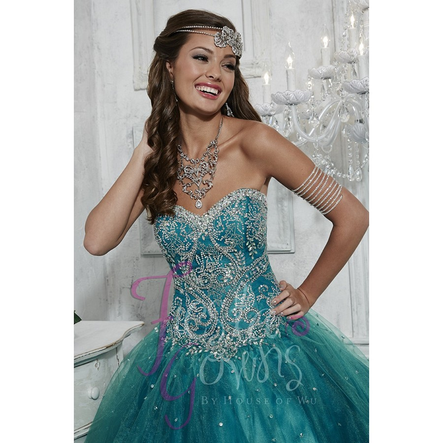 3b6a6dbd26c Dark Cyan Bejeweled Bodice Quinceanera Dresses Tulle Ball Gowns New  Debutante Dress for 15 Years Vestido de quinceanera 2017 on Aliexpress.com