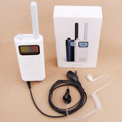 ABBREE PTT Mikrofon Air Akustische Rohr In-ear-ohrhörer Walkie Talkie Headset Für Xiaomi Mijia Smart Walkie Talke Zweiwegradio