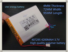 best battery brand Free shipping new U25GT battery 3.7 V lithium polymer battery 4200 mah A product batteries tablets, 407295 ba