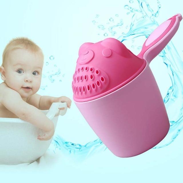 3 Colors Kids Cartoon Bear Bathing Baby Shower Shampoo Cup Bailer ...