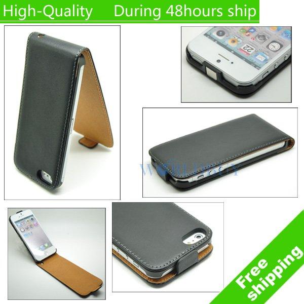 acf21a8e8ad33 VCK Wysokiej Jakości Luksusowe Case Oryginalne Klapki Skórzane Etui Dla  iphone 5 5S SE