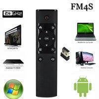 オリジナルフライエアマウスvigica FM4Sマジック2.4グラムワイヤレスキーボードマウスリモコン12キースマート用アンドロイドos tvボックスFM4 s