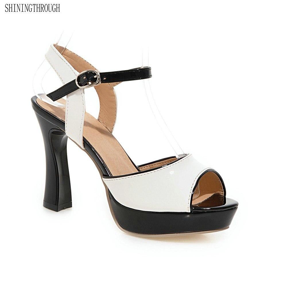 2018 New women high heel sandals fashion shoes women dress sexy ladies shoes peep toe footwear Mujer large size 34-43 weiqiaona new big size 33 43 fashion women shoes sexy lace ladies sandals mesh stiletto peep toe hollow high heel shoes woman
