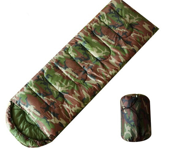 ФОТО High quality Cotton Camping sleeping bag for 3 seasons envelope style army or Military or camouflage sleeping bags