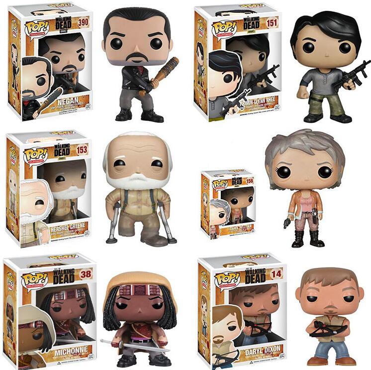 2019 Funko Pop The Walking Dead Collection Model Kids Boy Toys Rick Glenn Carl Figure Doll Toys