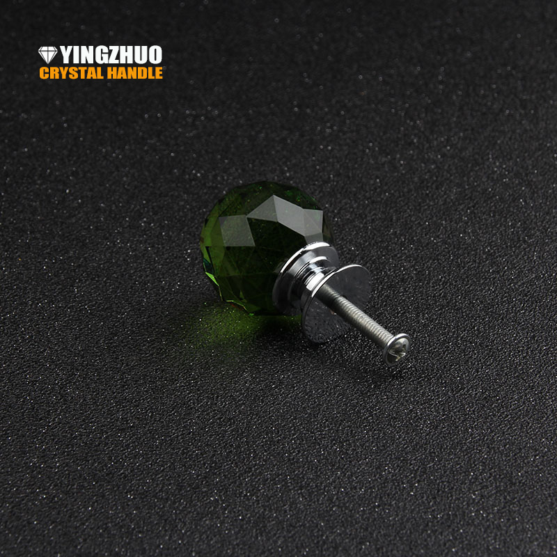 2017 Promotion Hot 5pcs Furniture Drawer Handles Cabinet Door Decoration Kitchen Green Ball Crystal Knob Handle Free Shipping free shipping hot sale 10pcs k9 crystal handles flash diamond archaize shiny drawer twinkle door knob bathroom handle crystal