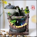 Free Shipping Rockery fountain water humidifier indoor pool wind wheel marriage home furnishing articles waterscape decoration