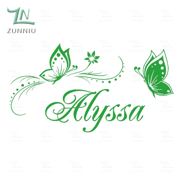 personalized name butterfly wall stickers for kids