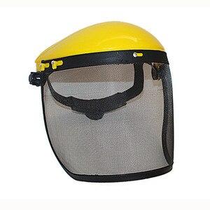 Image 4 - Металлическая Сетчатая Маска на все лицо, защитный козырек, защитный шлем, шляпа для бензопилы, щетки, резак, лесная газонокосилка, защитная маска для рабочей силы